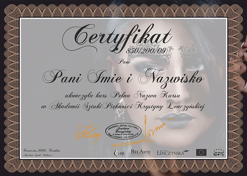 Certyfikat Wizaż i Stylizacja II