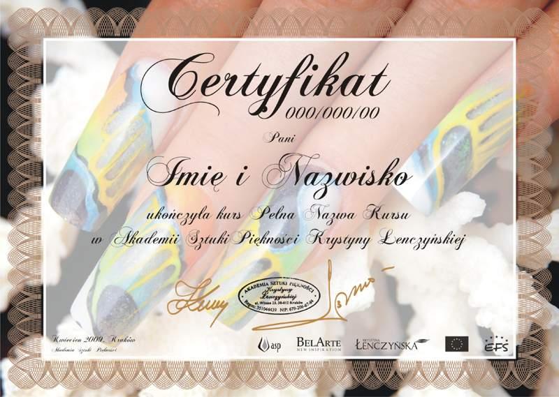 Certyfikat Oczko Wodne