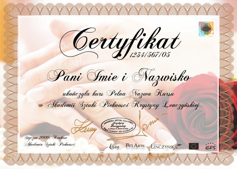 Certyfikat Manicure Francuski