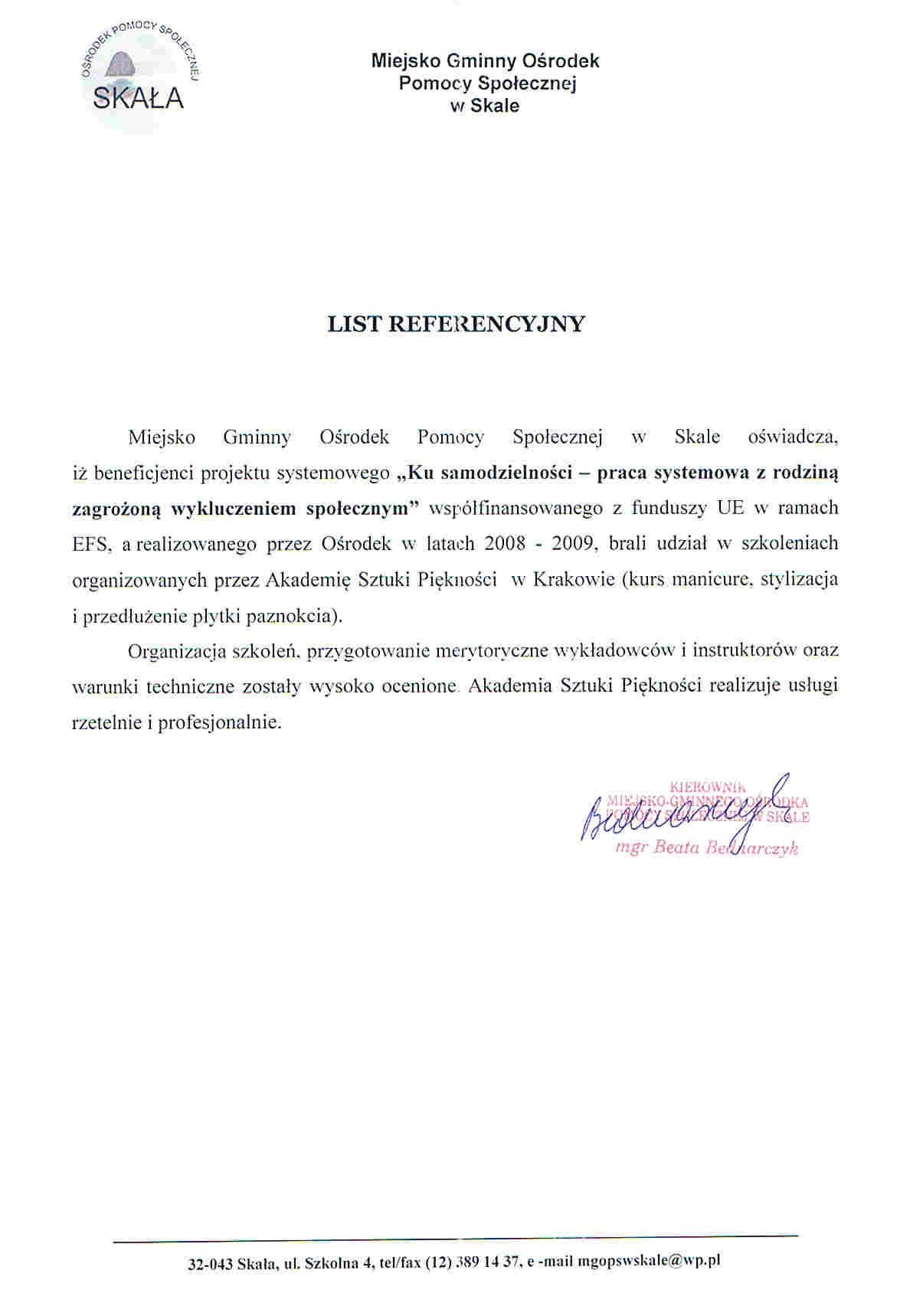 Miejsko Gminny Ośrodek Pomocy Społecznej w Skale-Skała
