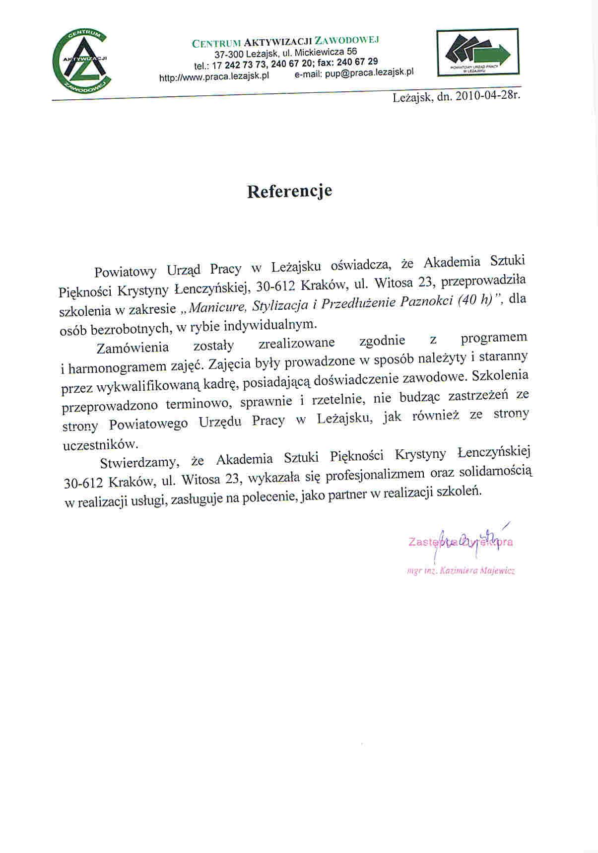 Powiatowy Urząd Pracy w Leżajsku-Leżajsk