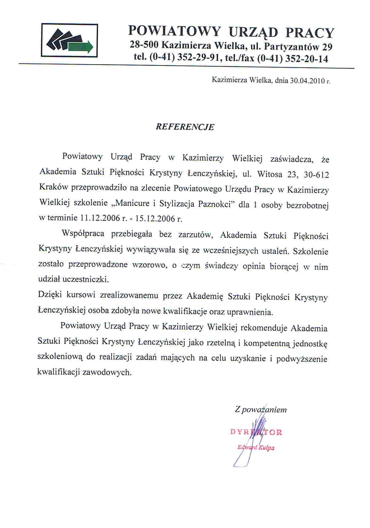 Powiatowy Urząd Pracy w Kazimierzy Wielkiej-Kazimierza Wielka