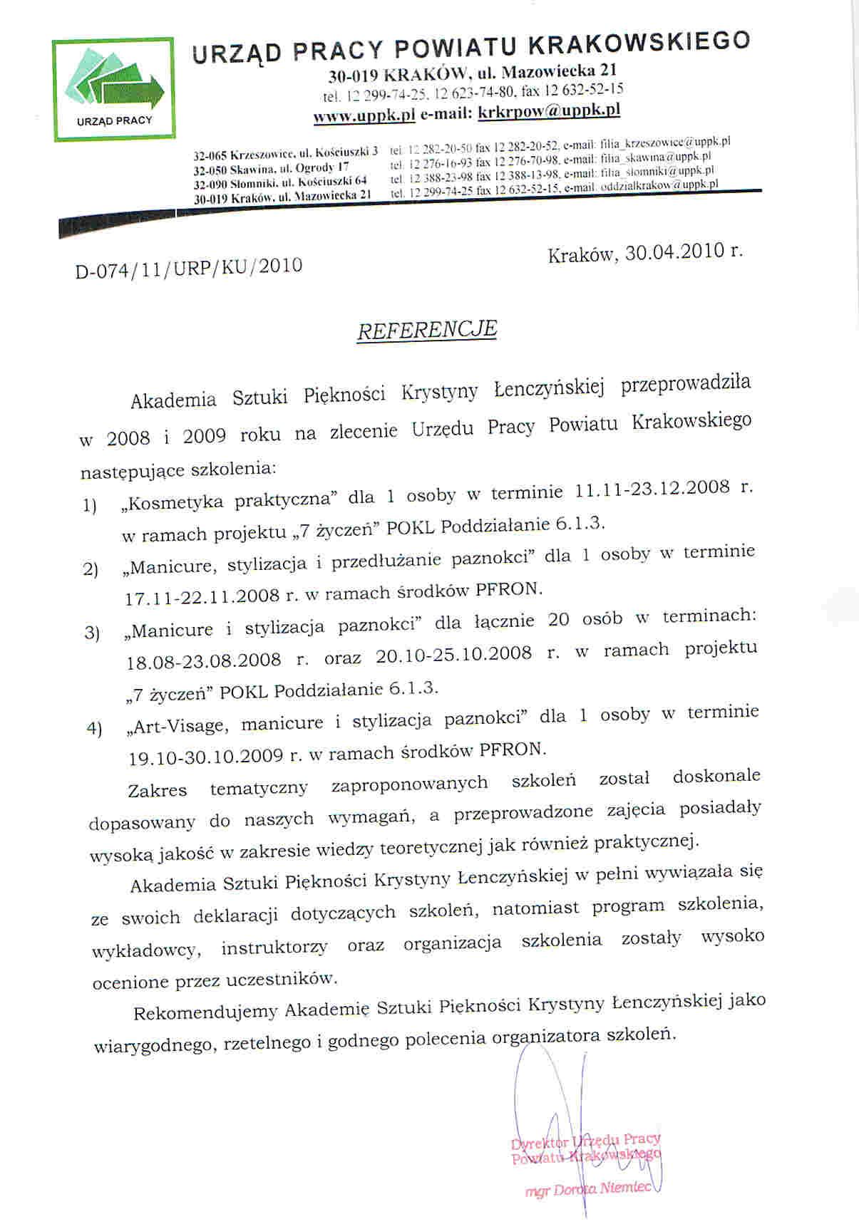 Urząd Pracy Powiatu Krakowskiego-Kraków