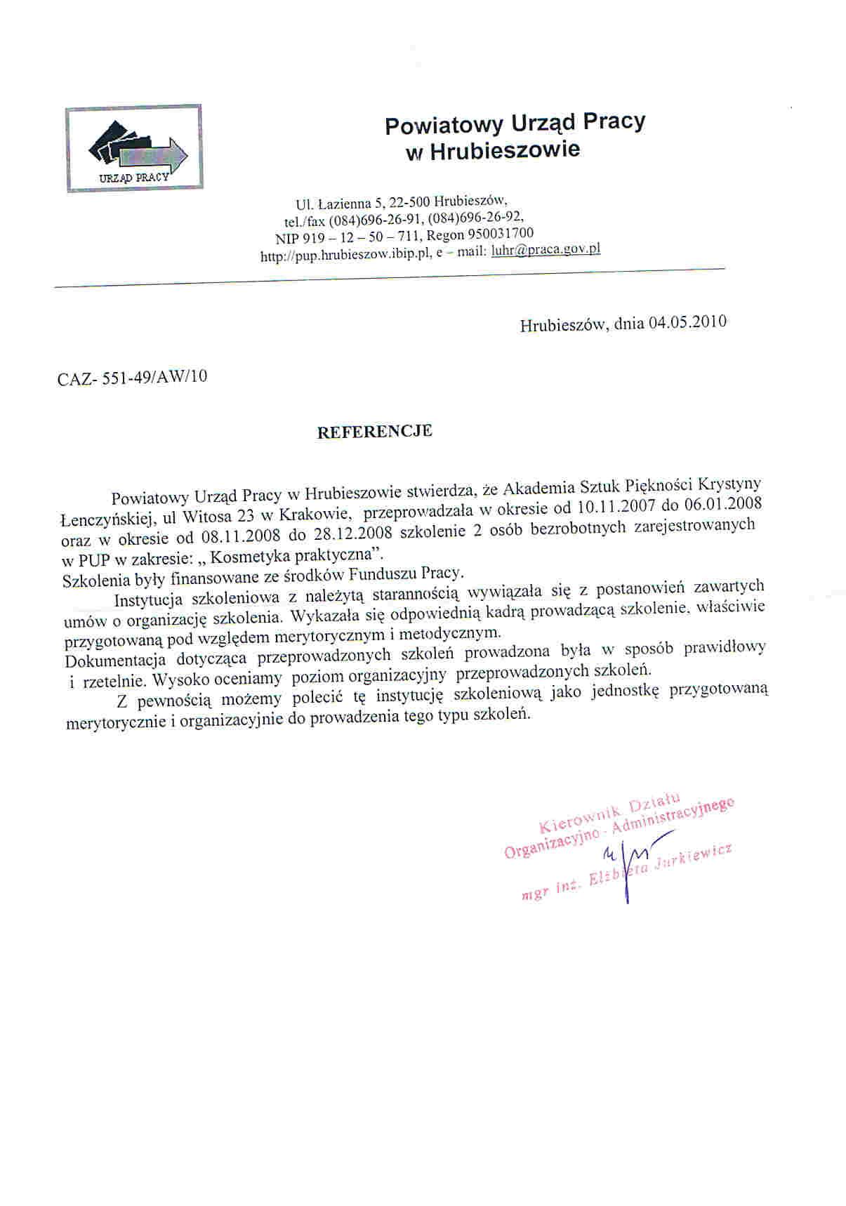 Powiatowy Urząd Pracy w Hrubieszowie-Hrubieszów
