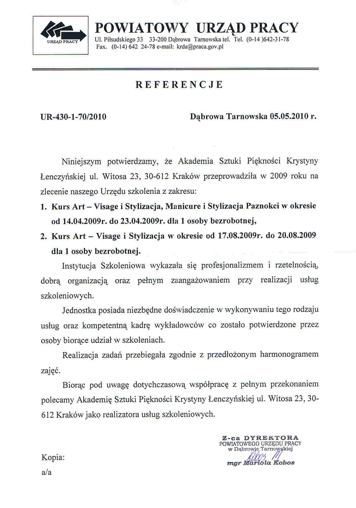 Powiatowy Urząd Pracy w Dąbrowie-Tarnowskiej-Dąbrowa Tarnowska