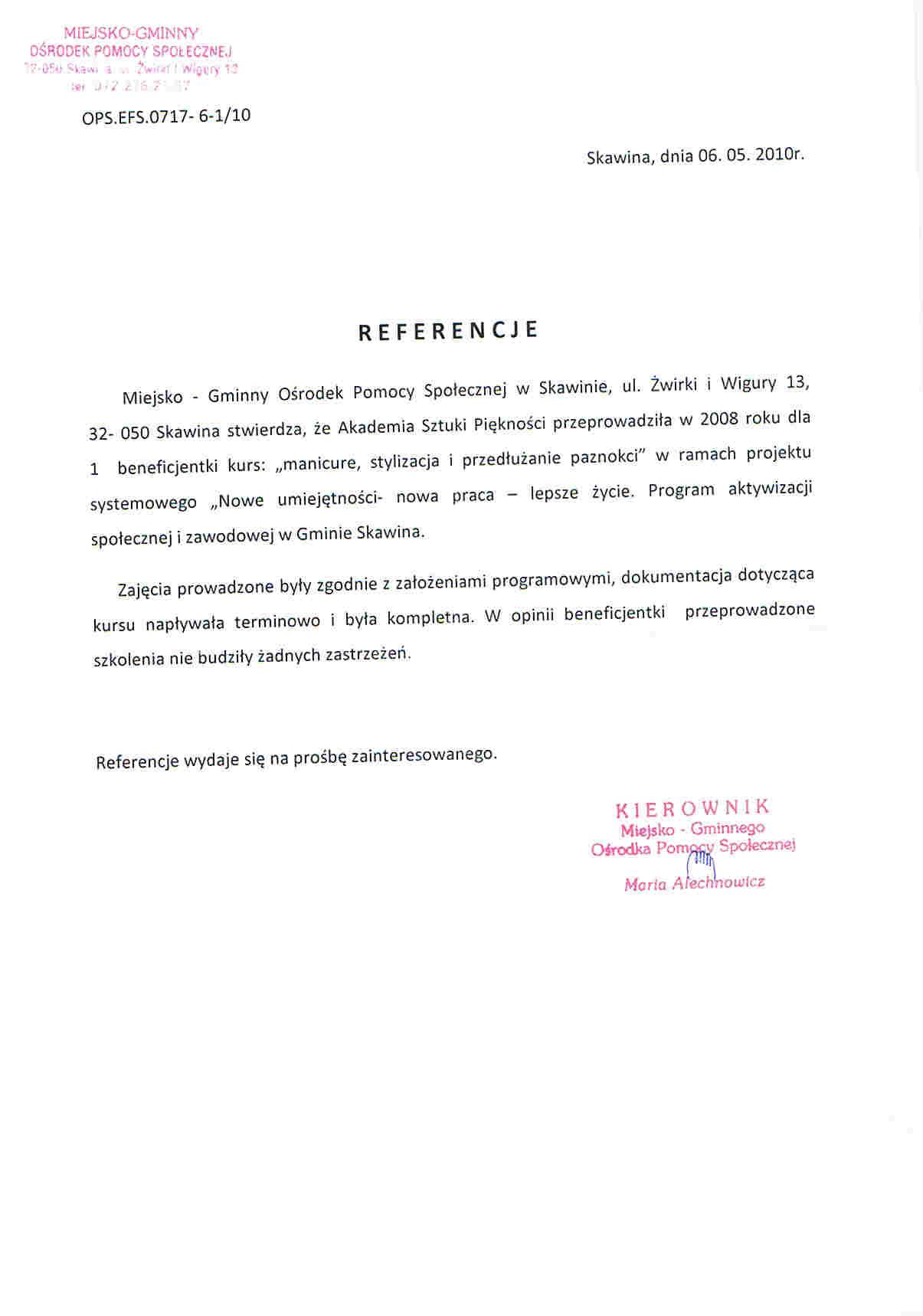 Miejsko Gminny Ośrodek Pomocy Społecznej w Skawinie-Skawina