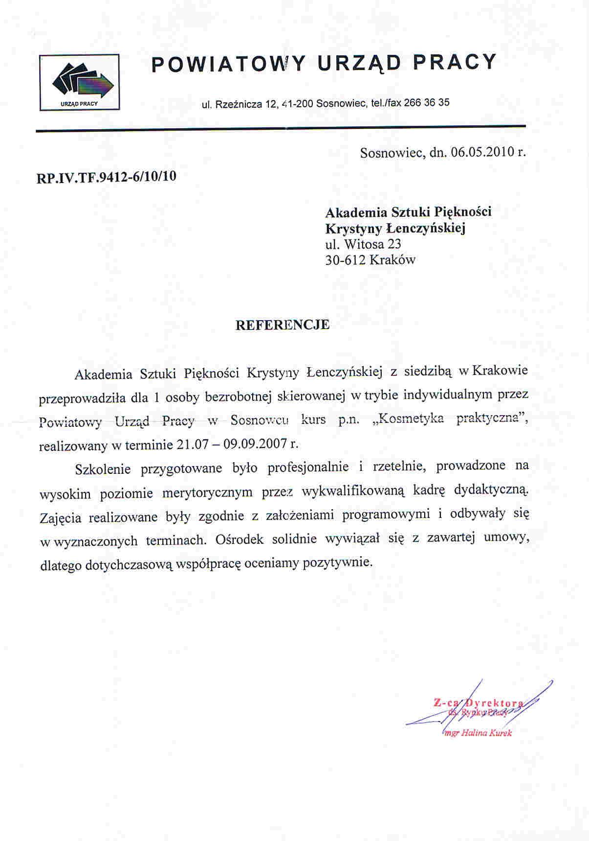 Powiatowy Urząd Pracy w Sosnowcu-Sosnowiec