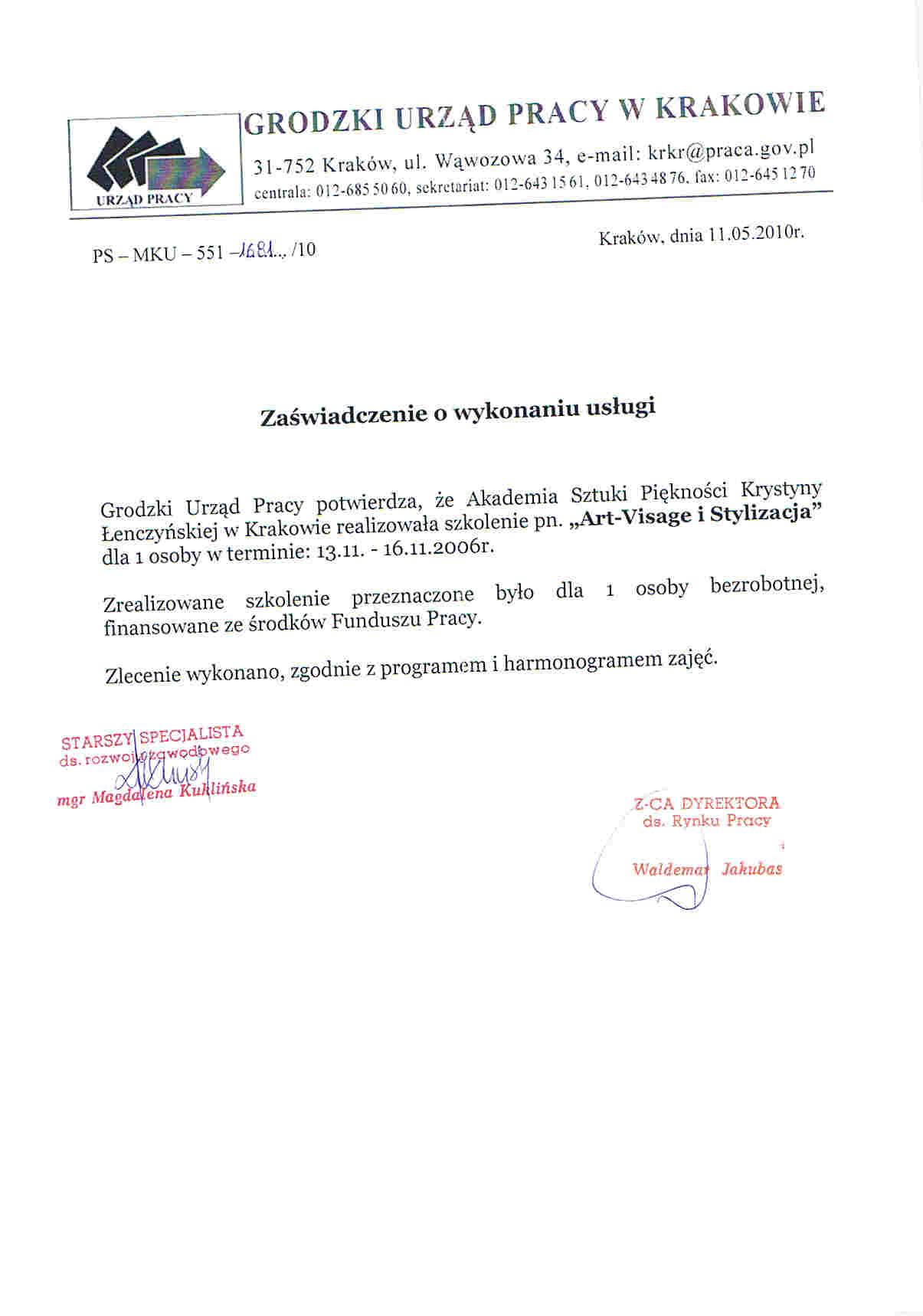 Grodzki Urząd Pracy w Krakowie-Kraków