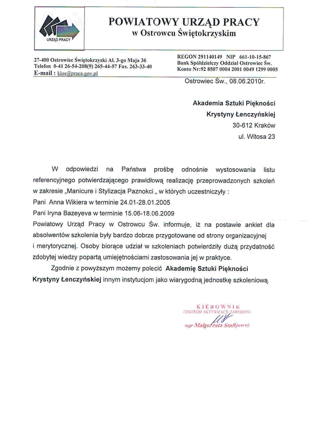 Powiatowy Urząd Pracy w Ostrowcu Świętokrzyskim-Ostrowiec Świętokrzyski