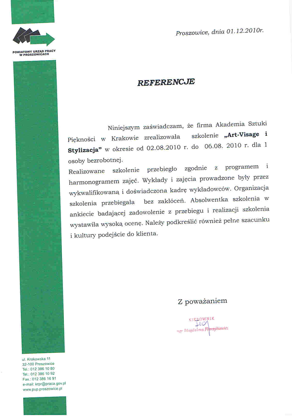 Powiatowy Urząd Pracy w Proszowicach-Proszowice