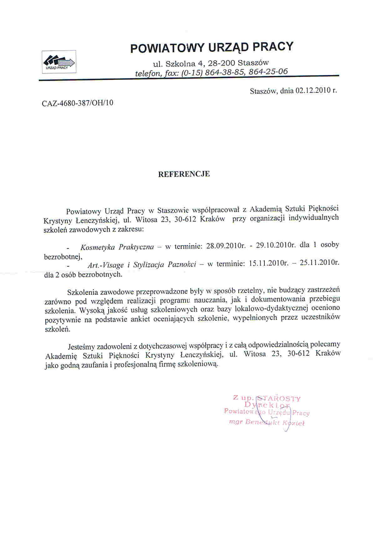 Powiatowy Urząd Pracy w Staszowie-Staszów