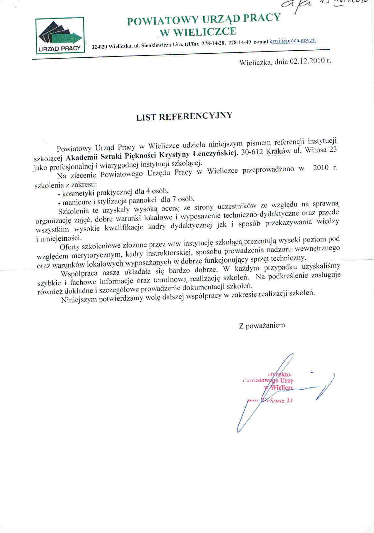 Powiatowy Urząd Pracy w Wieliczce-Wieliczka