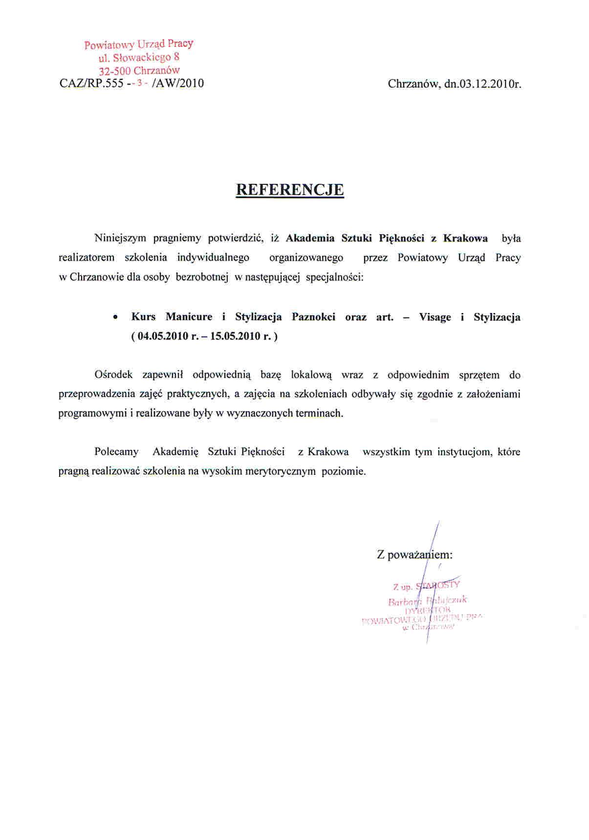 Powiatowy Urząd Pracy w Chrzanowie-Chrzanów