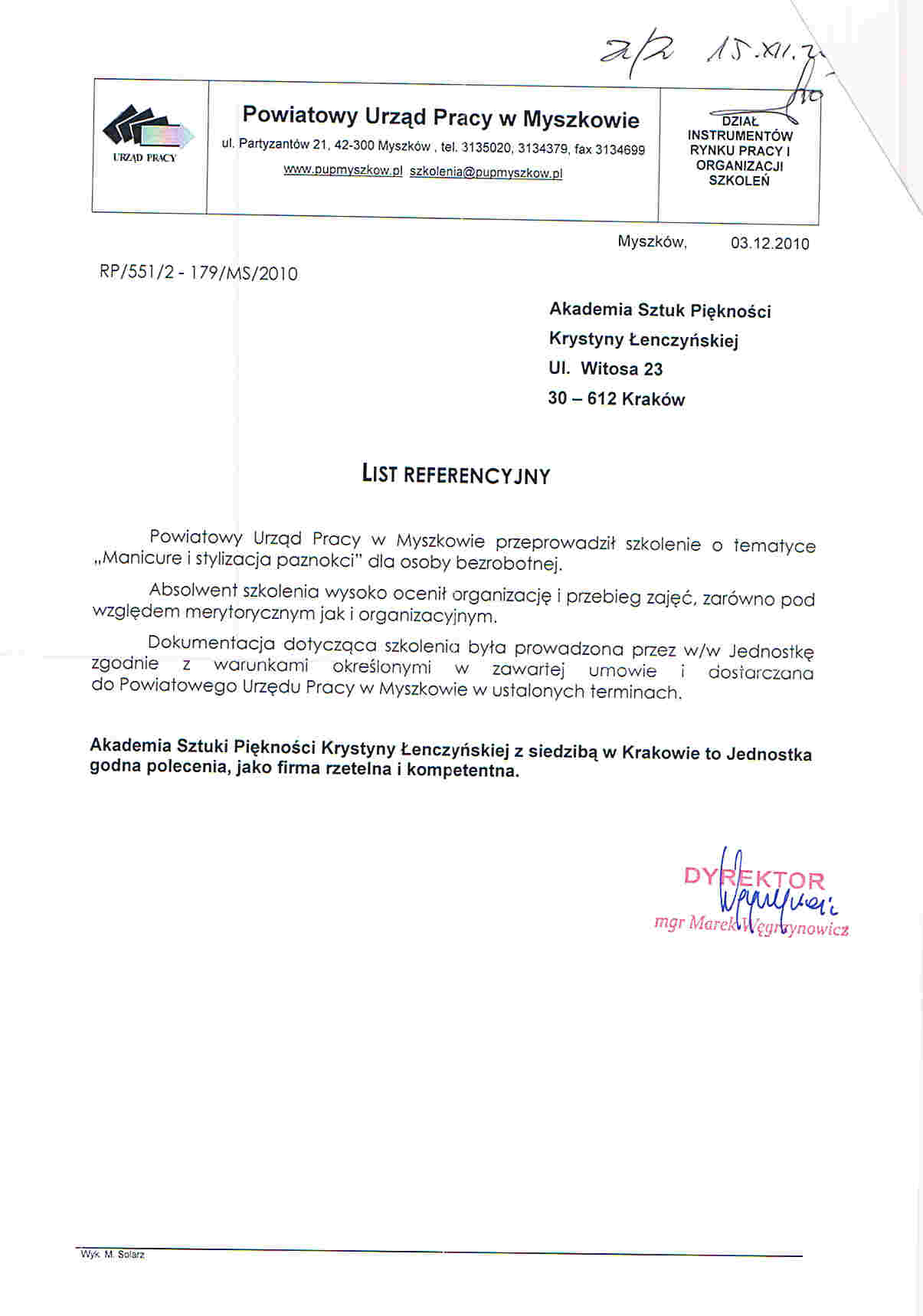 Powiatowy Urzad Pracy w Myszkowie-Myszków