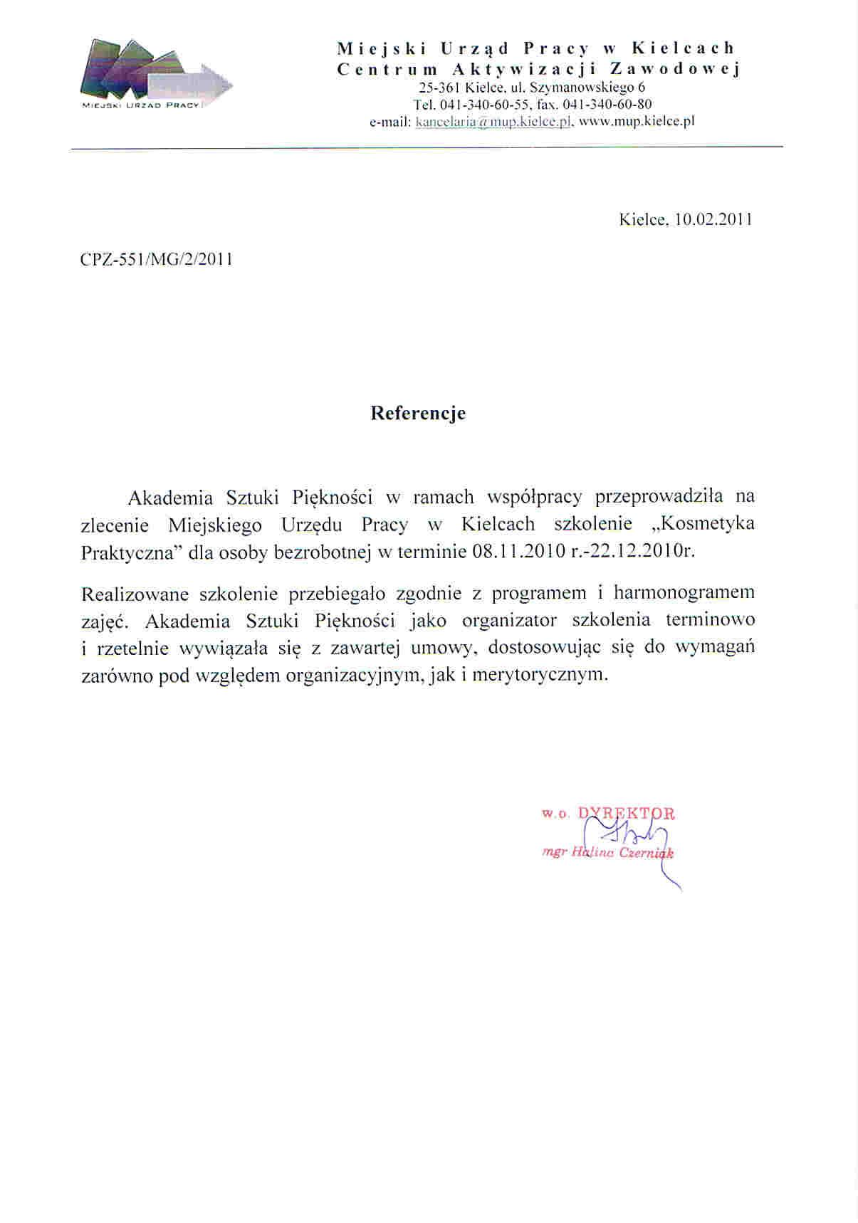 Miejski Urząd Pracy w Kielcach-Kielce