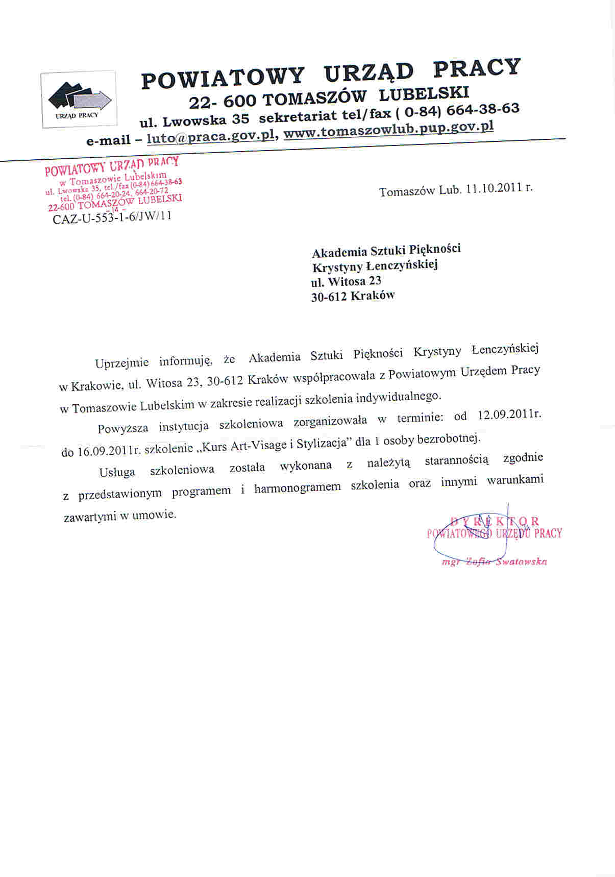 Powiatowy Urząd Pracy w Tomaszowie Lubelskim-Tomaszów Lubelski