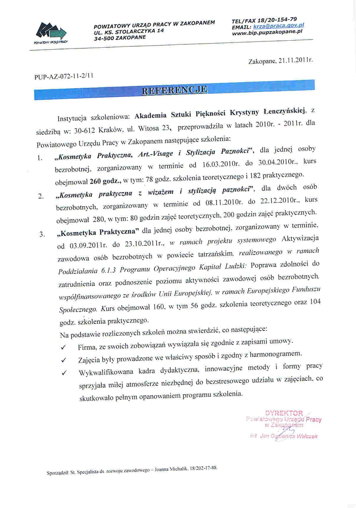 Powiatowy Urząd Pracy w Zakopanem-Zakopane
