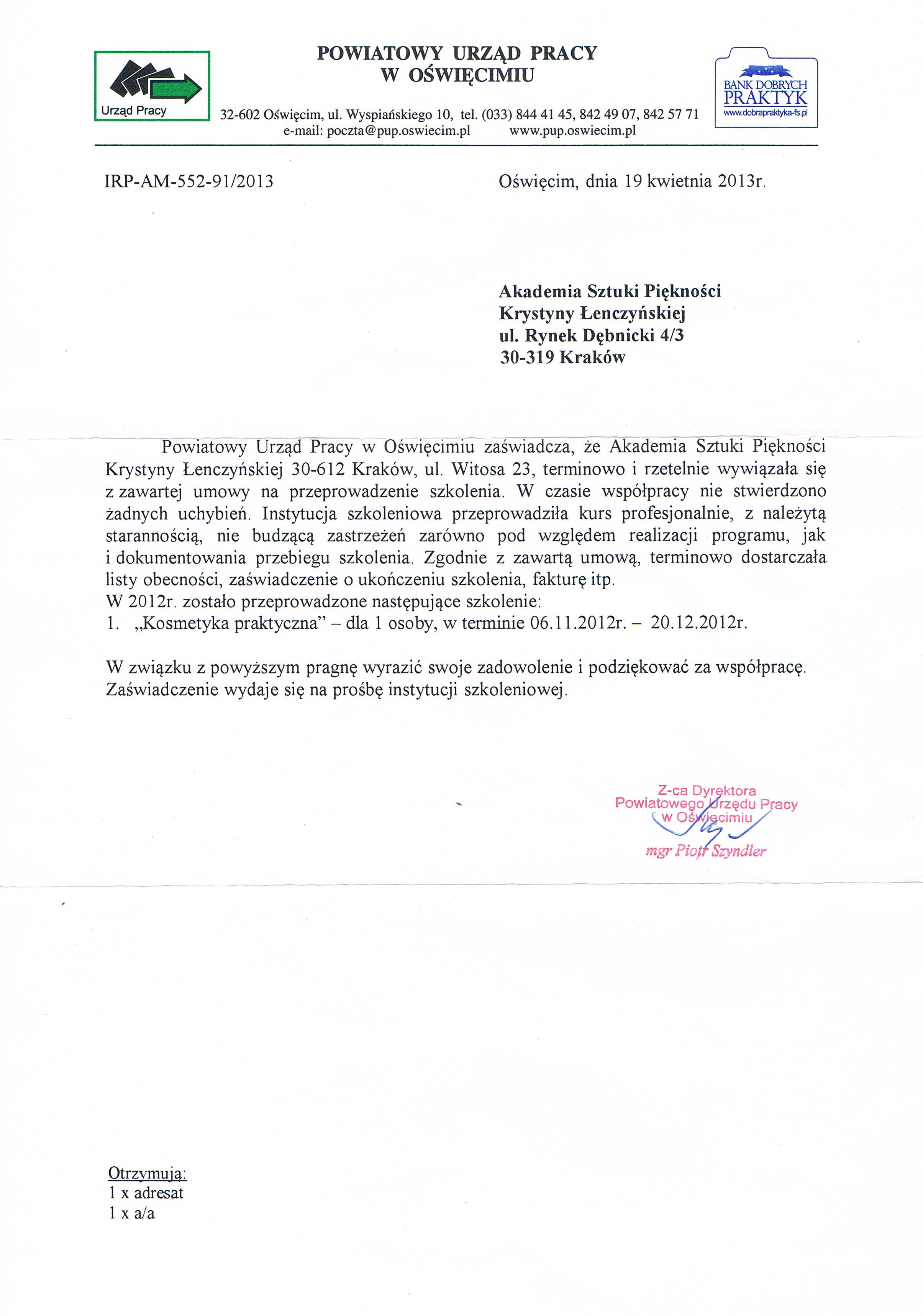 Powiatowy Urząd Pracy w Oświęcimiu-Oświęcim