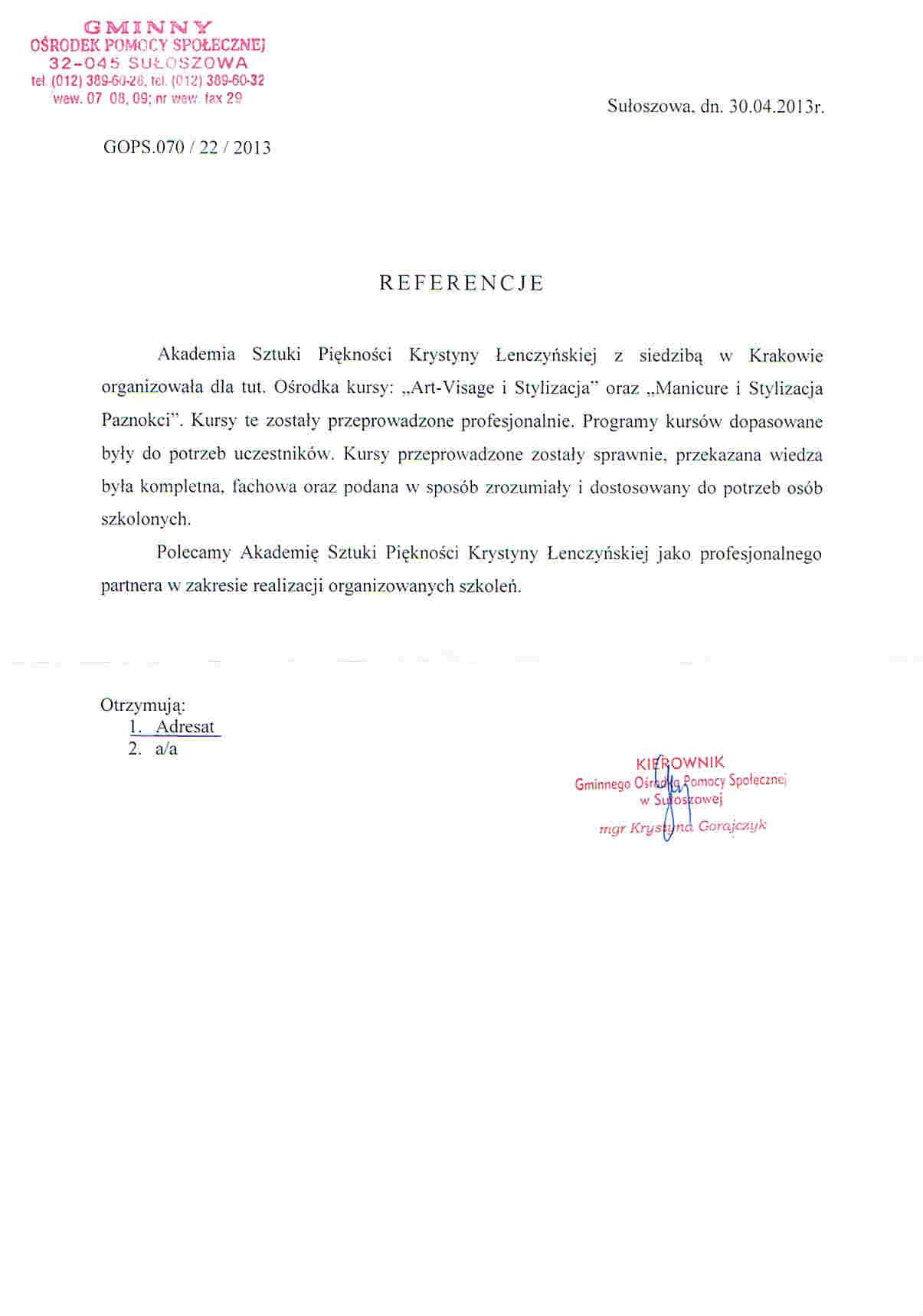 Gminny Ośrodek Pomocy Społecznej w Sułoszowej-Sułoszowa