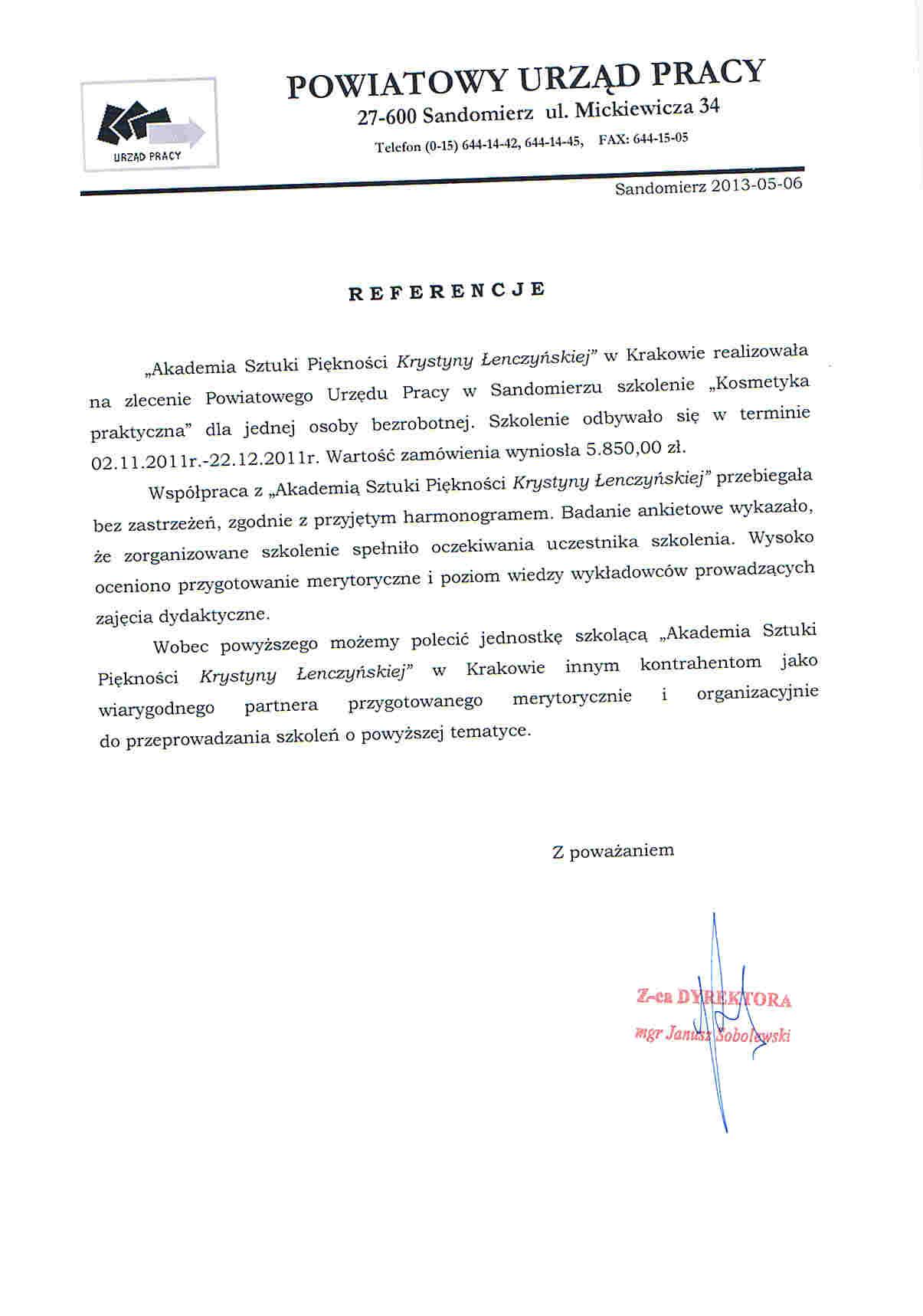 Powiatowy Urząd Pracy w Sandomierzu-Sandomierz