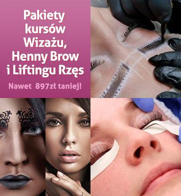 Pakiet Pakiet Wizażu, Liftingu Rzęs i Henny Brow w promocyjnej cenie!