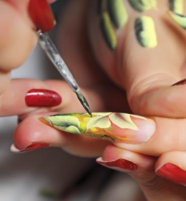Farbki akrylowe zdobienie paznokci kurs